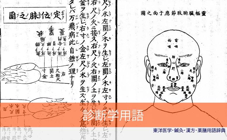 診断学用語集 (C)東洋医学・鍼灸・漢方辞典dictionary oriental medicine