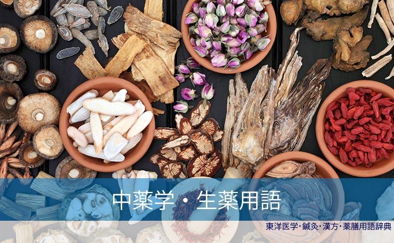 生薬中薬学用語(C)東洋医学・鍼灸・漢方辞典dictionary oriental medicine